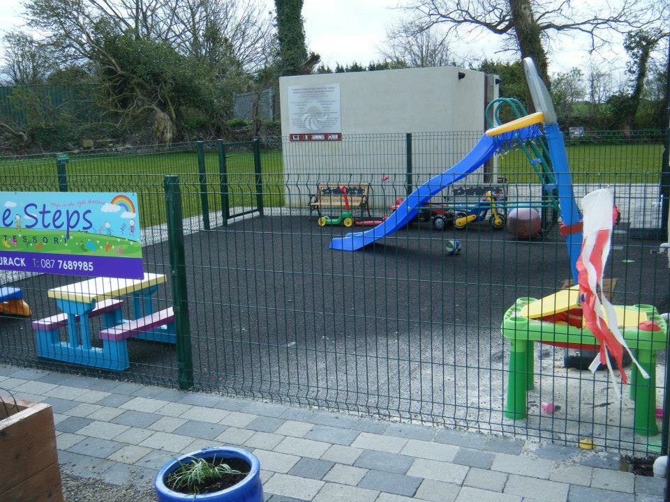 Our outdoor slide and play area
